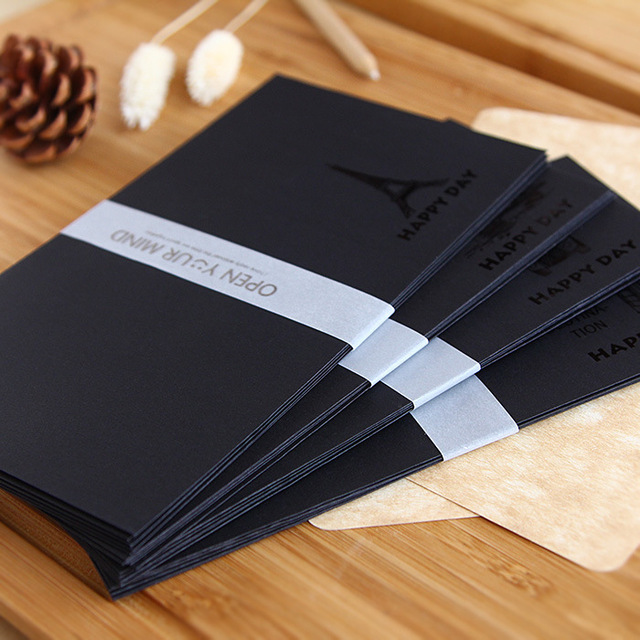100pcslot happy day vintage old building black paper envelope gift bag for wedding invitation