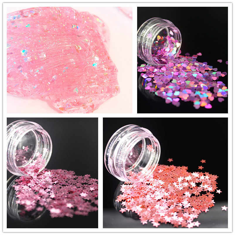 1pcs Sparkle Silver Modeling Clay New Floam Slime Scented Stress Relief No Borax Kids Toy Sludge Kids Gift