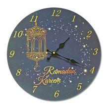 KAYE Electronic Frameless 3D Wall Clock Decal Sticker Muslim Ramadan Eid Mubarak Home Decoration 2019 NEW