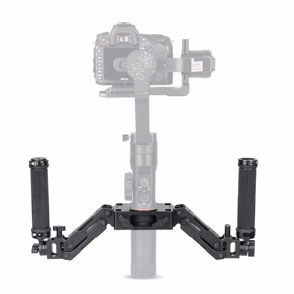 EACHSHOT Z Axis 5 Axis Spring Dual Handle Grip Handheld Handlebar Kit for Gimbal Zhiyun Crane