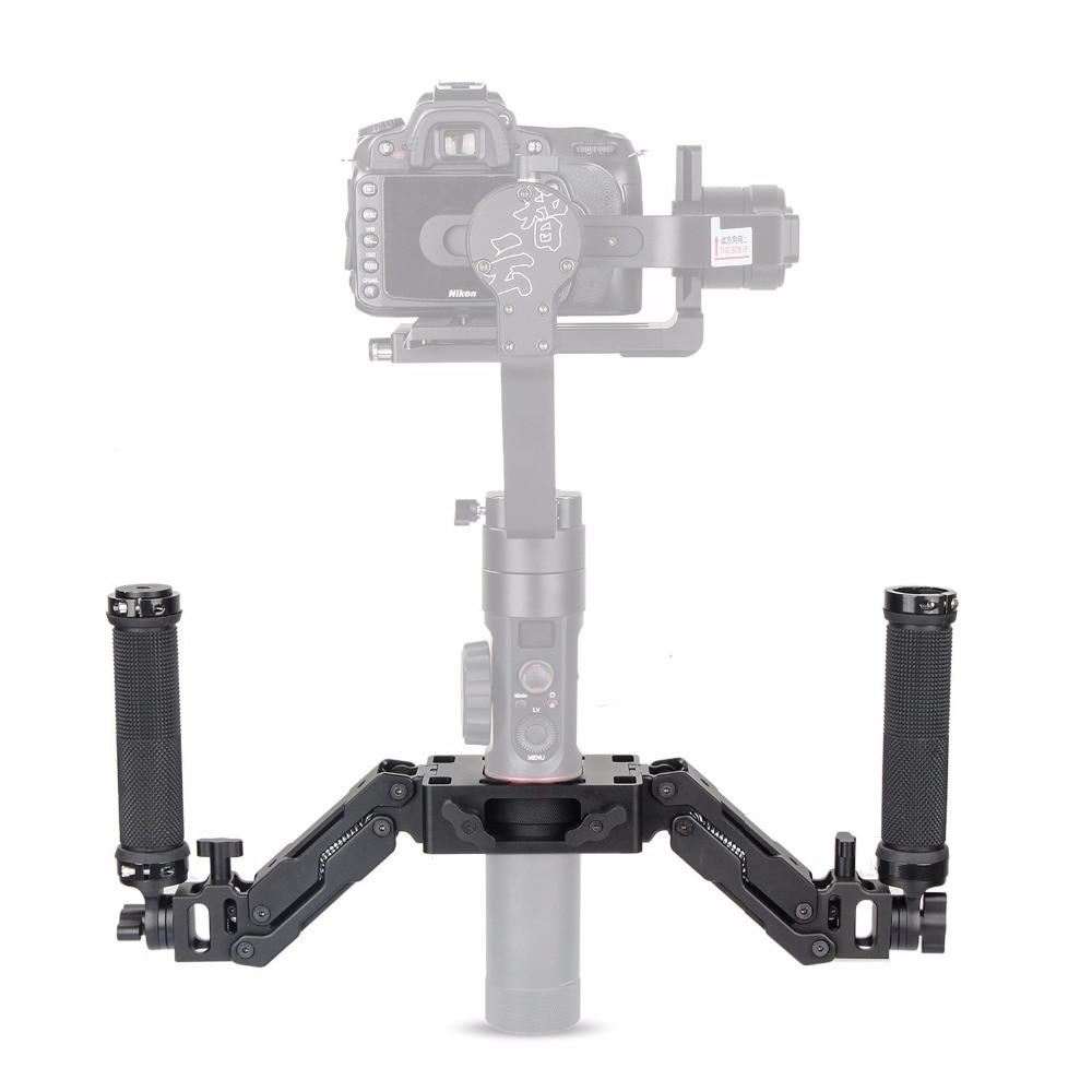 EACHSHOT Z Axis 5 Axis Spring Dual Handle Grip Handheld Handlebar Kit for Gimbal Zhiyun Crane