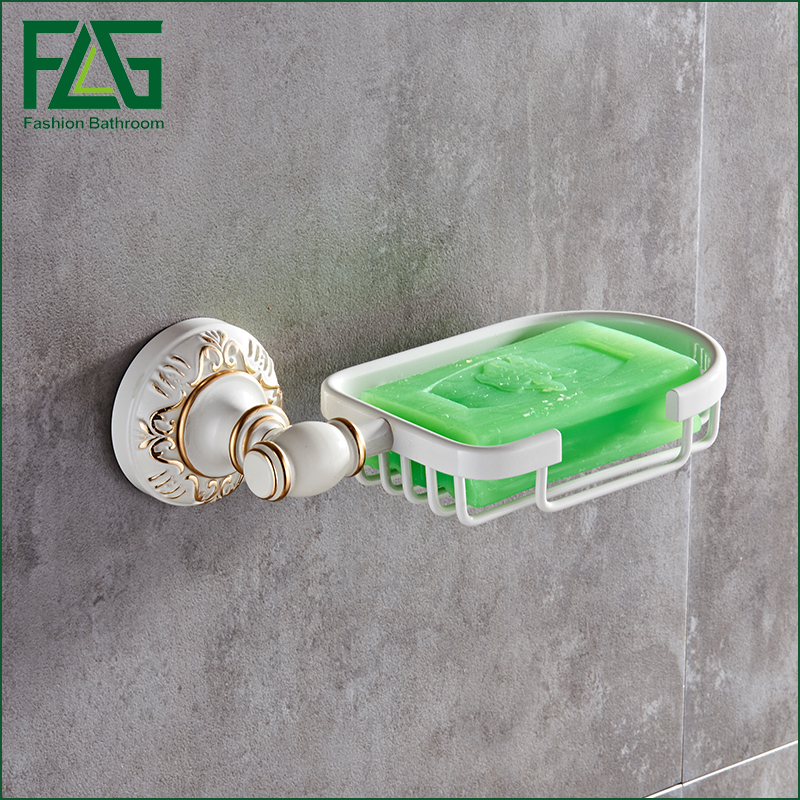 FLG Space aluminum Soap Dish Holder Baked white paint Network Bathroom Accessories Soap Shelf toilet vanity