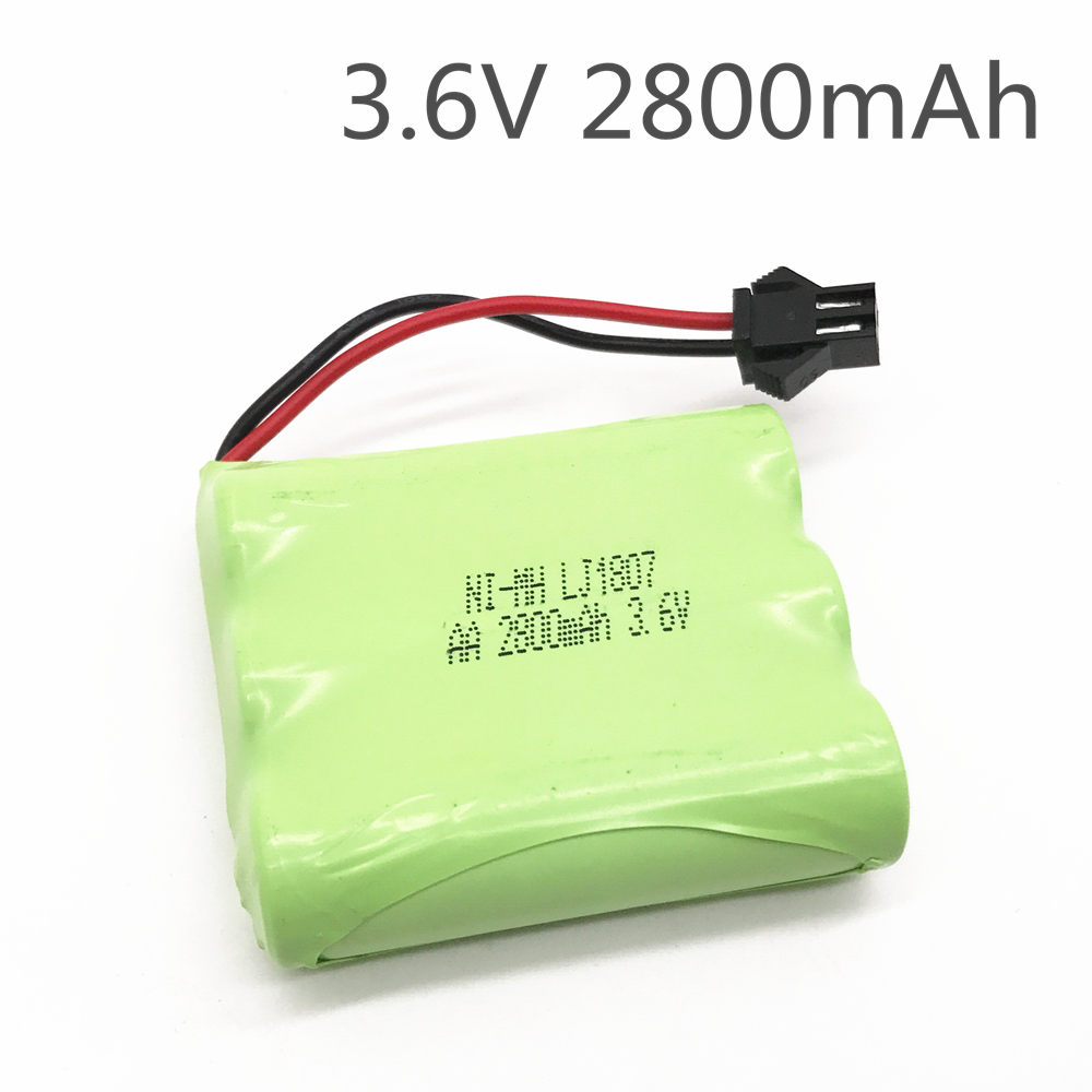 3.6v battery 2800mah ni-mh bateria 3.6v nimh battery pilas recargables 3.6v pack aa size ni mh for rc car toy tools model 6v 2800mah m style high capacity aa ni mh rechargeable battery for electric toys rc car rc truck rc boat jst sm tamiya plug