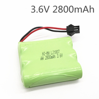 Bateria 3.6v bateria 2800mah ni-mh bateria 3.6v nimh pilhas recargables 3.6v pacote aa tamanho ni mh para rc carro brinquedo ferramentas modelo