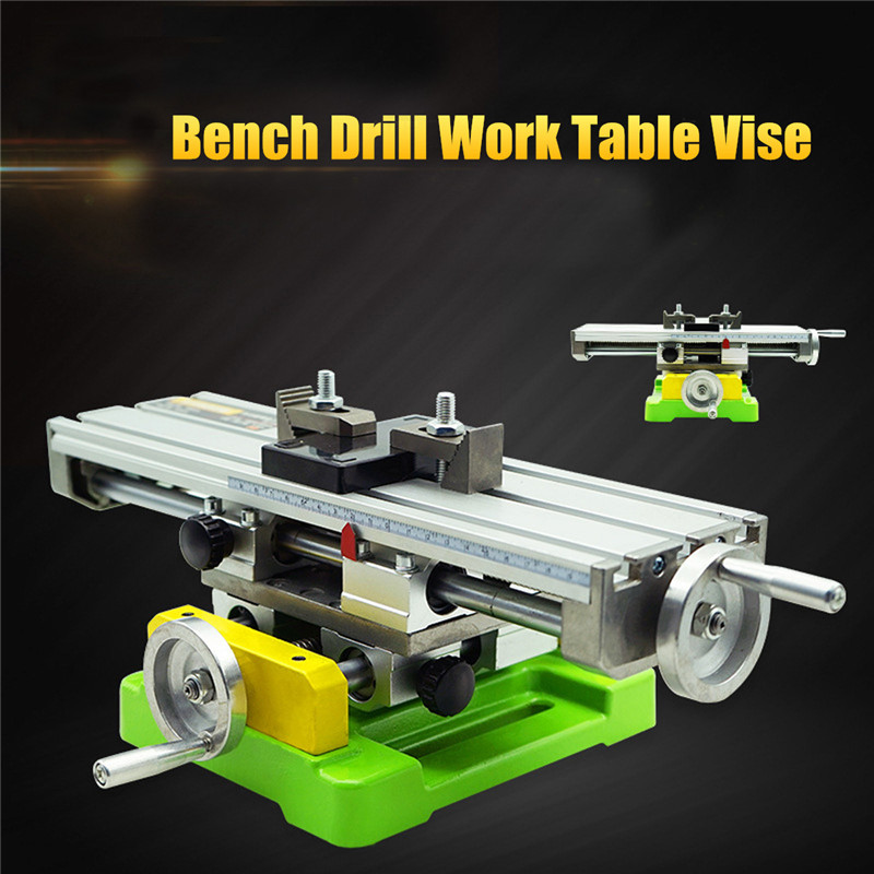 High Quality Premium Compound Cross Slide Working Table Adjustment X-Y Milling Working Cross Table Bench Vise Drilling Table gktools electroplated metal sawing table working table of jigsaw z025mp