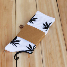 Daisy & Na Ankles Socks Women Leaf Cotton High Men Weed Colorful New Hosiery 021