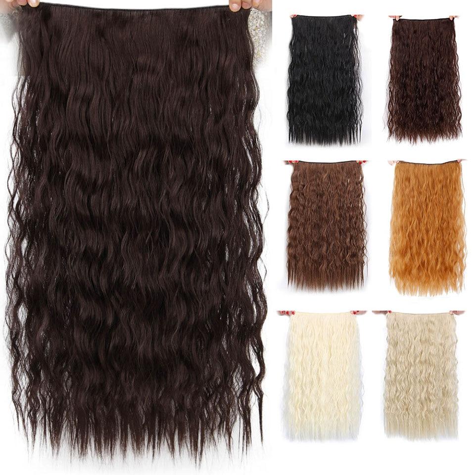 AISI BEAUTY Syntetiskt hår 5 Clips Förlängning Vattenvåg Lång 22 - Syntetiskt hår