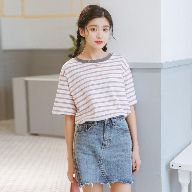 Funny t shirts summer 2017 ulzzang harajuku korean style women top spring fashion retro hole ...
