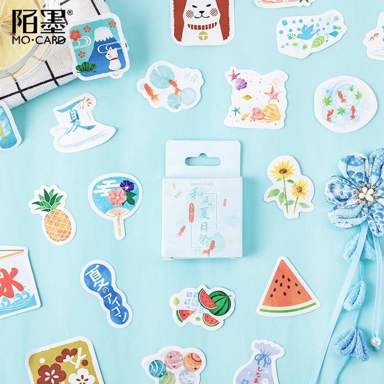 46 Pcs/lot Summer Fruit Bullet Journal Decorative Mini Stickers Set Scrapbooking DIY Diary Album Stick Lable Japanese Stationery