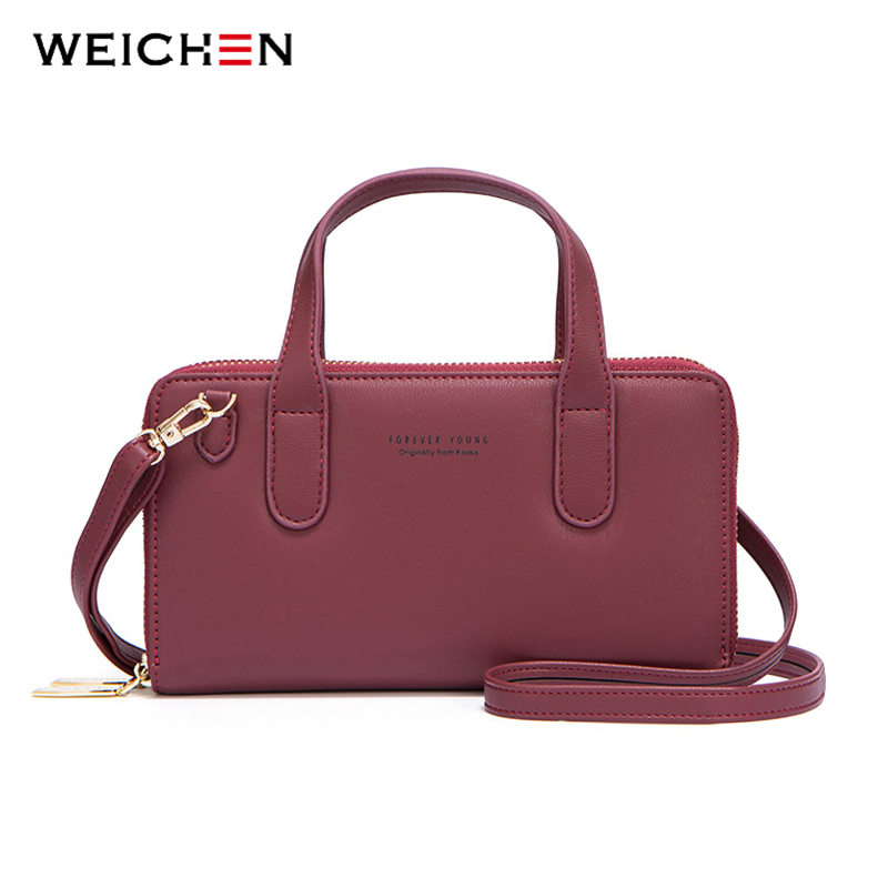 WEICHEN Brand Messenger Bag Women High Quality Leather Mini Shoulder Crossbody Tote Bag For Ladies  Small Handbag Female Purse
