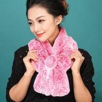 2013 New Real Rex Rabbit Fur In Fashion Beauty Women Neckerchief Neck Warmer Scarf