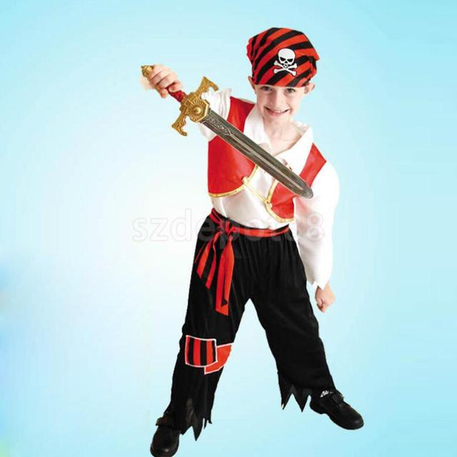 Kids Boys Halloween Little Pirate Fancy Dress Book Week Costume Outfits  sc 1 st  AliExpress.com & Kids Boys Halloween Little Pirate Fancy Dress Book Week Costume ...