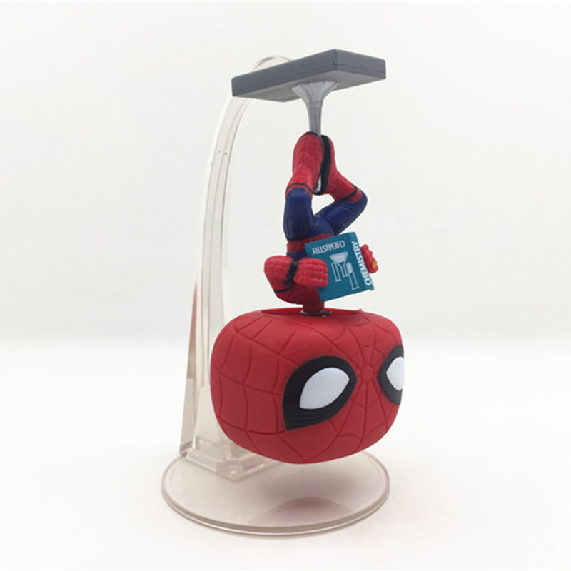 Spider Man Homecoming Mini Action Figure 1/10 Scale Painted Figure 259# Spider Man Vinyl Bobble Head Pvc Figure Toy Brinquedos Easy To Repair Toys & Hobbies