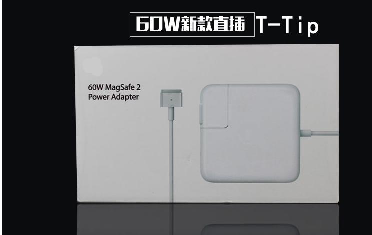 Prix pour Véritable original 60 w magsafe2 magsafe 2 adaptateur chargeur avec emballage d'origine pour macbook pro retina 13 ''a1425 a1502.