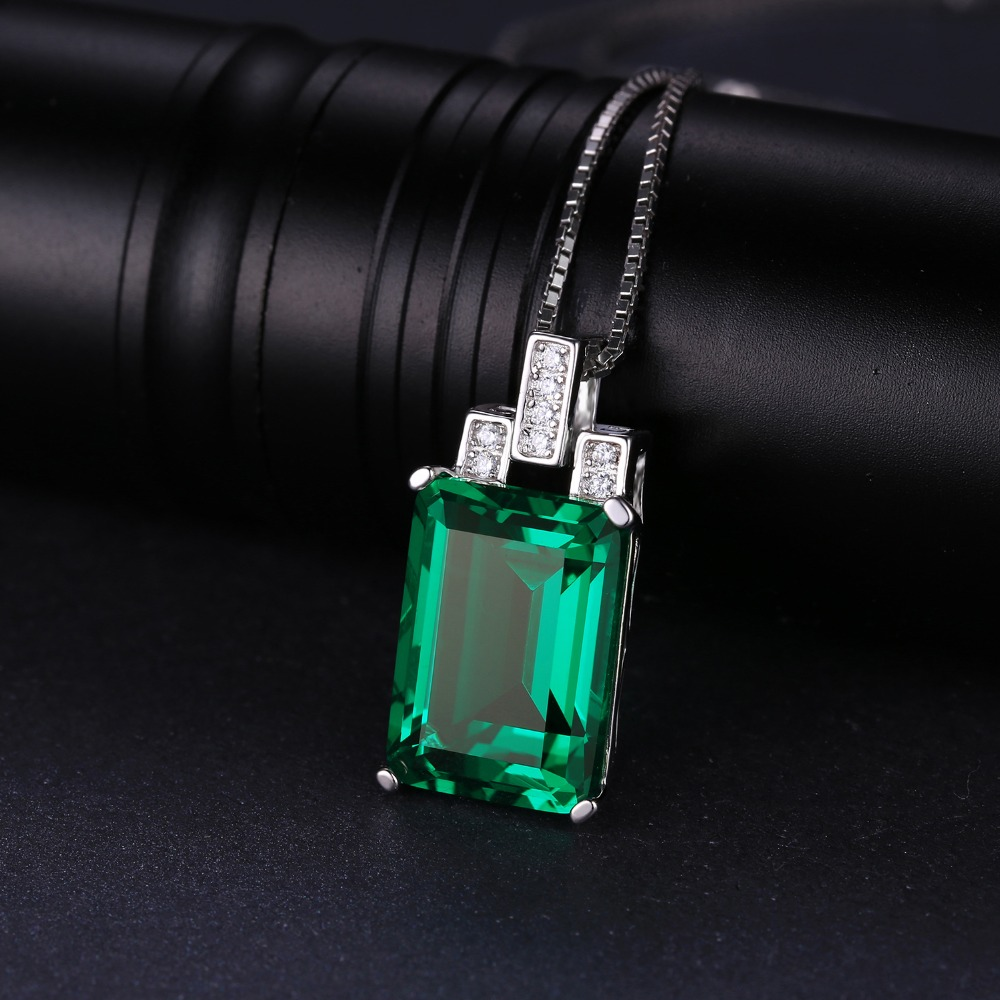 Wholesale jewelrypalace luxury 6ct created green emerald pendant jewelrypalace luxury 6ct created green emerald pendant genuine 925 sterling silver brand jewelry without a chain wholesale jewelry swarovski womens aloadofball Images