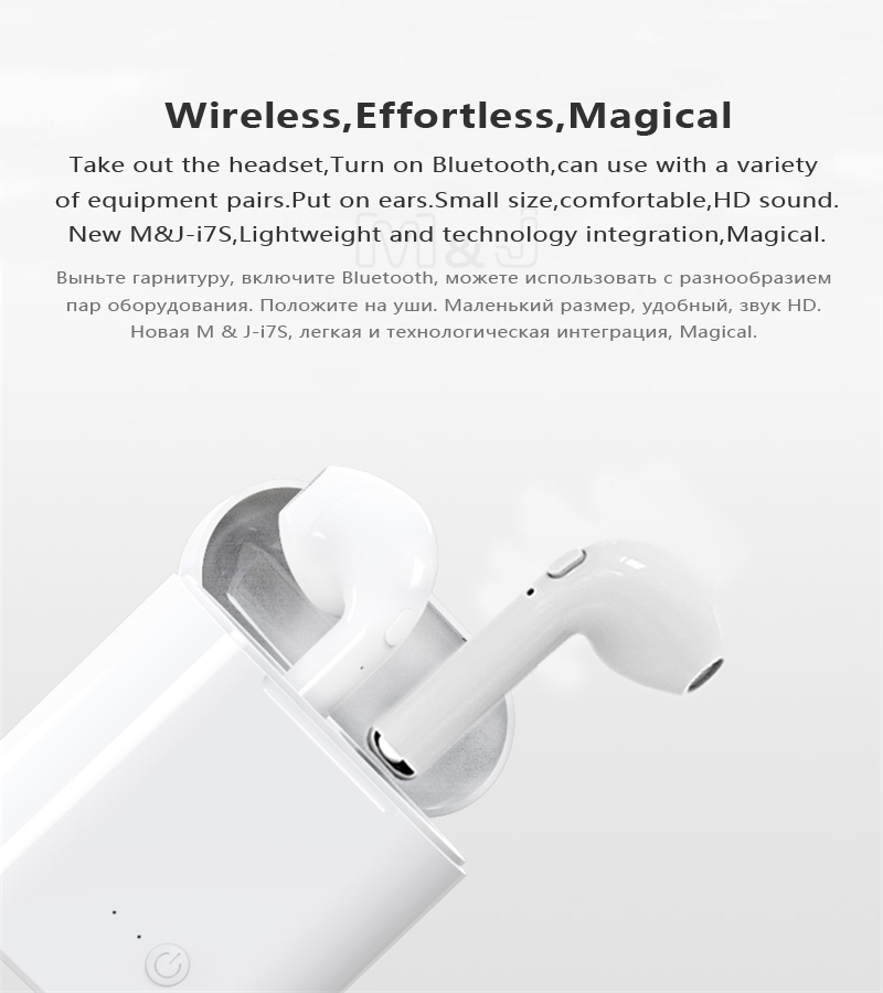 TWS Mini Wireless Bluetooth Earphone Stereo Earbud Headset With Charging Box Mic For All Smart phone white 2
