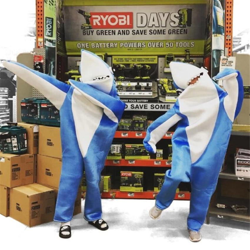 The Walking Requin Animal Cosplay Costumes Adulte Enfants Combinaisons De Mascotte Parent-enfant Costume Fantaisie Meilleur Cadeau