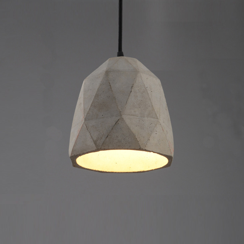 Loft Vintage Concrete Pendant Light E27 LED Industrial Hanging Lamp Cement  With 5 Styles For Dining Room Bedroom Kitchen Hotel