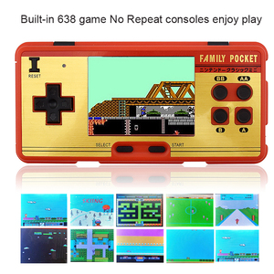 Image 3 - Data Frog Portable Handheld Game Players Built in 638 Classic Games Console 8 Bit Retro Video Game For Gift Support AV Out Put