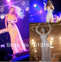free shipping new hot&sexy 2015 myriam fares colorful long luxury pearls vestido de festa party prom gown celebrity dresses