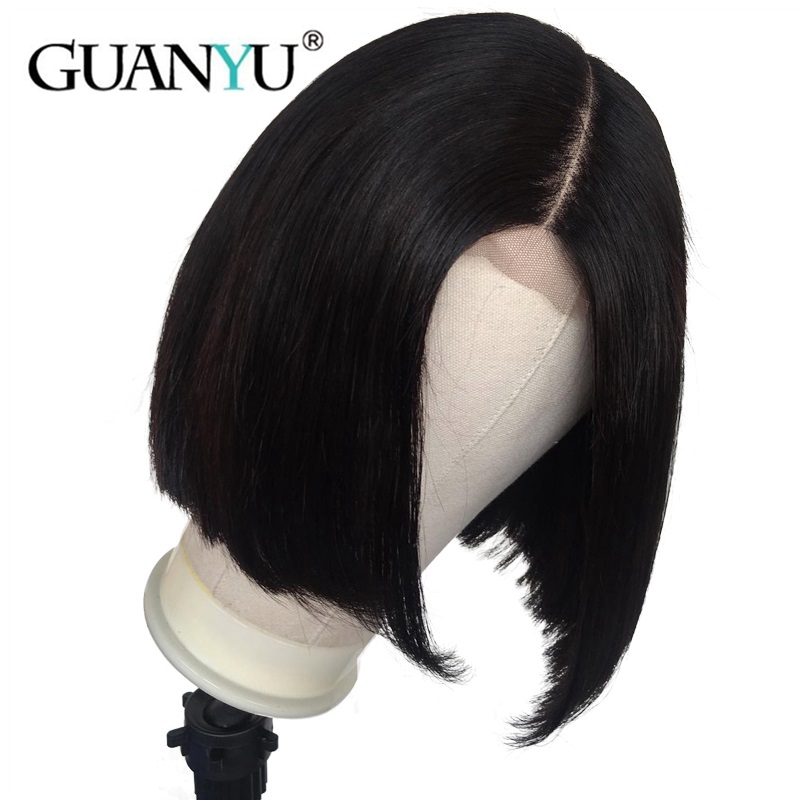 Lace Front Human Hair Wigs Short Bob Medium Brown Lace Brazilian Remy Hair With Baby Hair