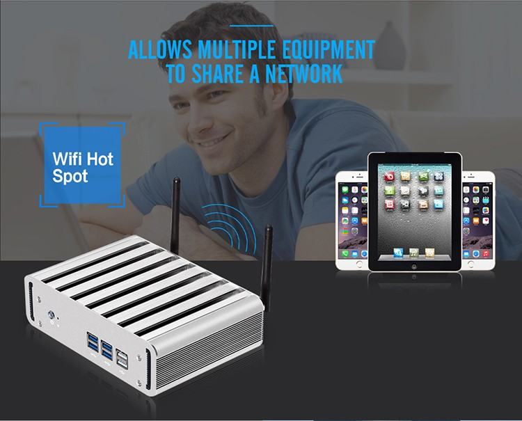 XCY X31 Mini PC with Intel Core i3 4010U i5 4200U i7 4500U CPU Option and 6*USB Ports for Windows 10 Linux 13