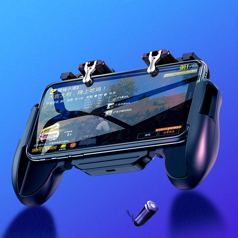 GamePad Pubg Controller Trigger Cooler Cooling Fire PUBG Mobile Game Controller Joystick Metal L1 R1 Trigger for IPhone Android-in Gamepads from Consumer Electronics