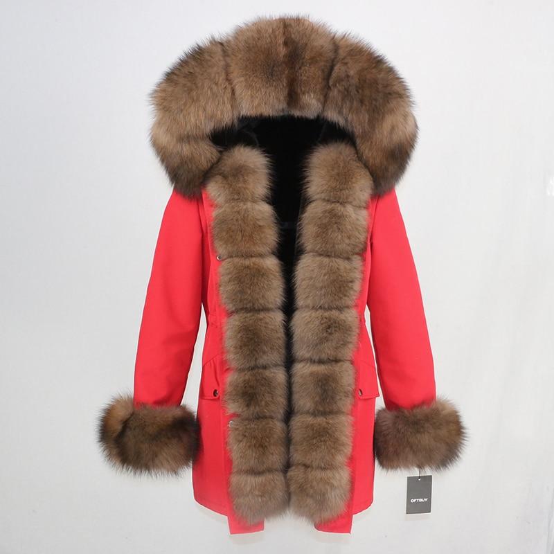 OFTBUY Waterproof Long Parka Winter Jacket Women Real Fur Coat Natural Fox Fur Collar Hood Thick Warm Streetwear Detachable New 59