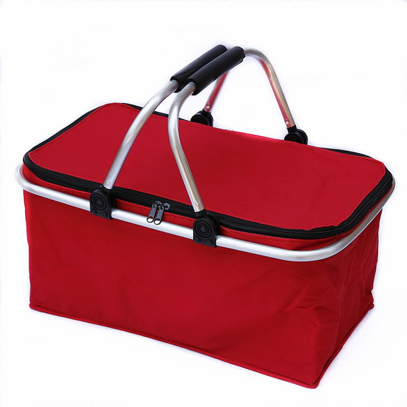 insulated picnic basket outdoor camping folding cooler insulated picnic baskets 12080