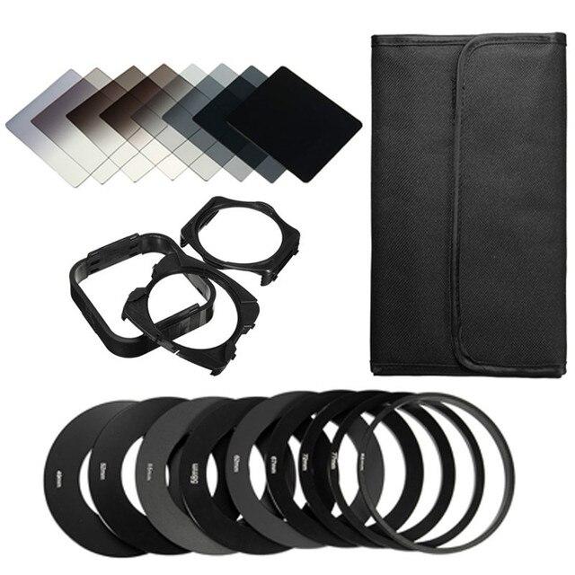 20in1 Universal Neutral Density Square ND Filter Kit + Adapter Ring + Holder for Cokin P Set SLR DSLR Camera Lens