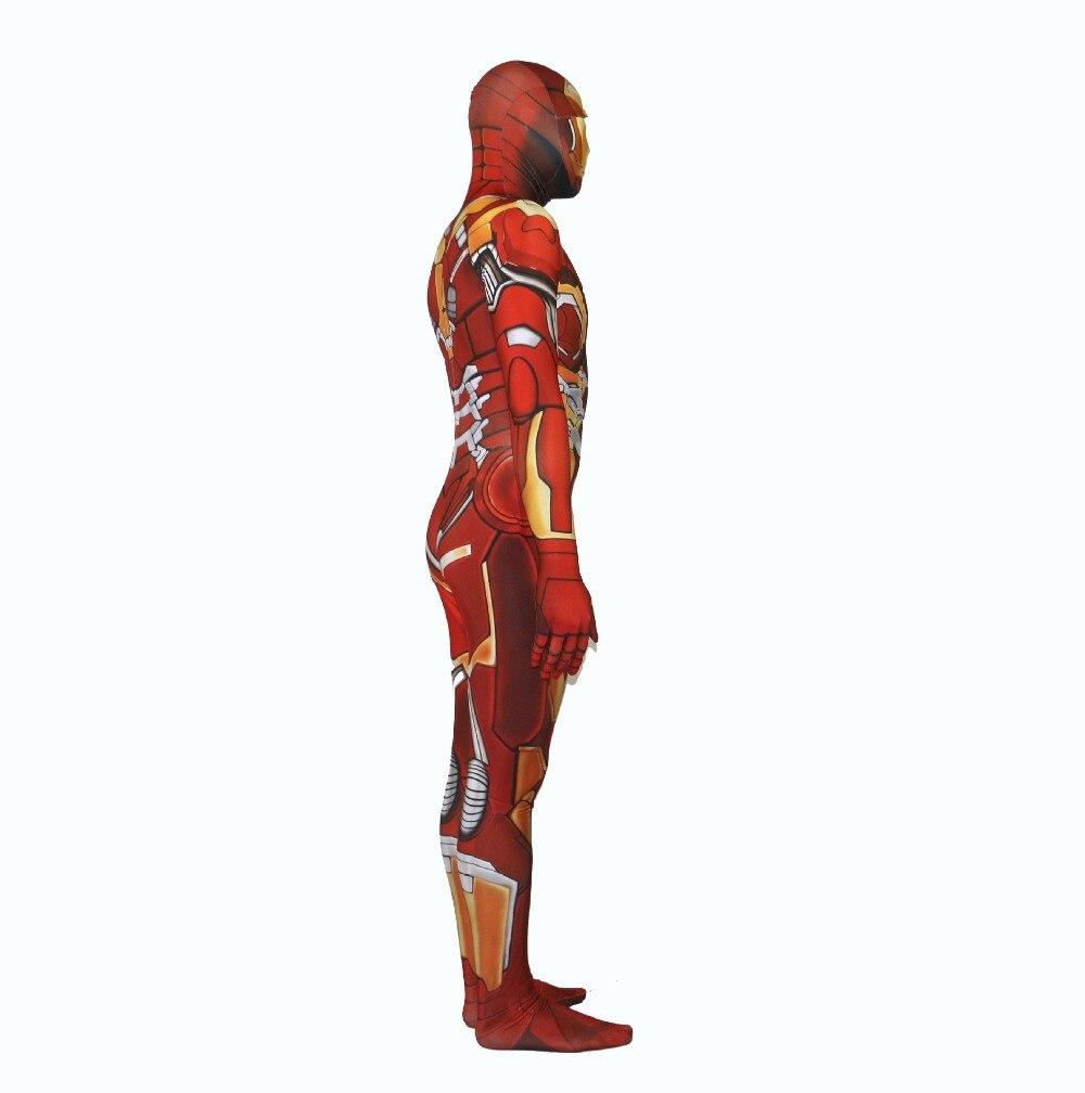 Железный человек Объёмный рисунок (3D-принт) Костюмы для косплея лайкра zental комбинезоны Необычные Хэллоуин Вечерние боди для Пурим