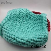 miaoaim 2Pcs/Lot 45*45cm Handmade Kntted Blanket Rug Felt