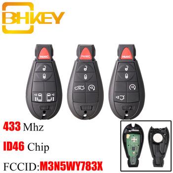 цена на BHKEY 4+1 5Buttons Remote Car key For Jeep Grand Cherokee 2008 2009 2010 2011 2012 2013 M3N5WY783X IYZ-C01C 433Mhz Smart key Fob