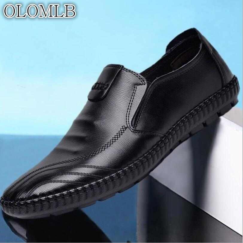 Men's Shoes Shoes 2019 Latest Design Big Size Men Moccasins Luxury Brand Loafers Genuine Leather Footwear Causal Men Shoes Designer Sneakers Male Black Shoes Adult