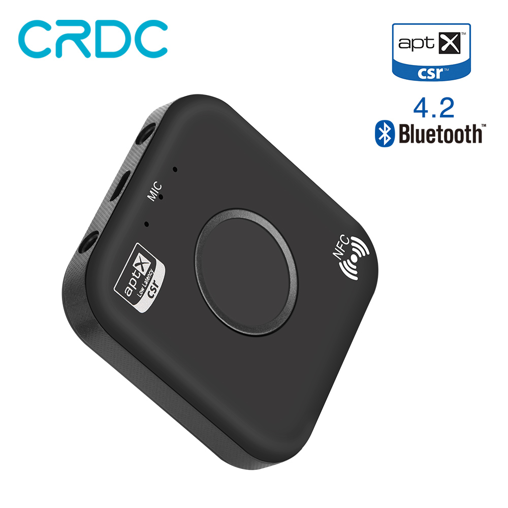 CRDC Bluetooth Empfänger 4,2 Aux 3,5mm Audio Rezeptor NFC/Aptx Wireless Adapter Konverter für Auto Lautsprecher MP3 Telefon kopfhörer