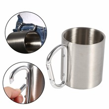 New Stainless Steel Portable Mug Travel Camping Hiking Outdo