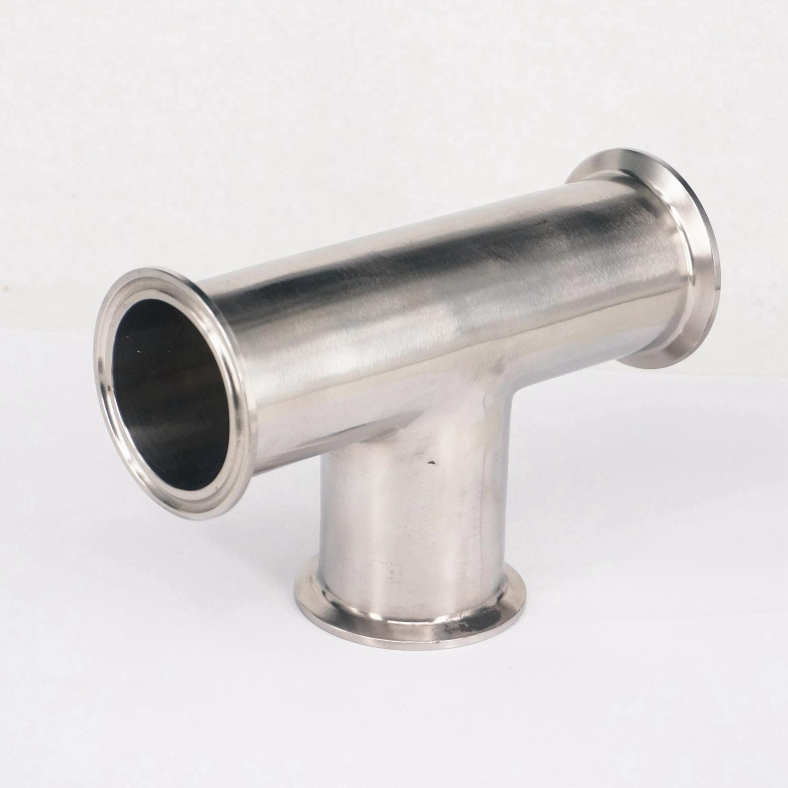51mm 2 O/D 304 Stainless Steel Sanitary Ferrule Tee Connector Pipe Fitting Tri Clamp 1 2 bsp male x 1 5 tri clamp 304 stainless steel pipe fitting connector for homebrew with hex nut