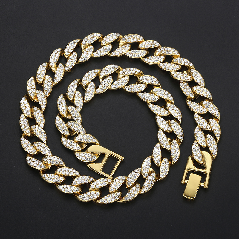 d3138fae9b Davieslee Hip Hop Mens Necelace Iced Out Gold Miami Curb Cuban Link Chain  Necklace for Men Male Jewelry Dropshipping 2019 DGN484