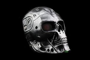 Image 2 - Terminator Skull Airsoft Full Face Helmet Mask Horror CS Halloween Protective Masquerade Party Cosplay Outdoor Props Resin Masks