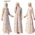Мусульманин платье абая для женщин Исламского платья дубай кафтан Исламская одежда Мусульманская абая Платье турецкий джилбаба хиджаб 044