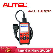 Autel AutoLink AL609P Auto Diagnostic Tool Car Scanner Code Reader OBD2 Scan View Freeze Frame Data tools