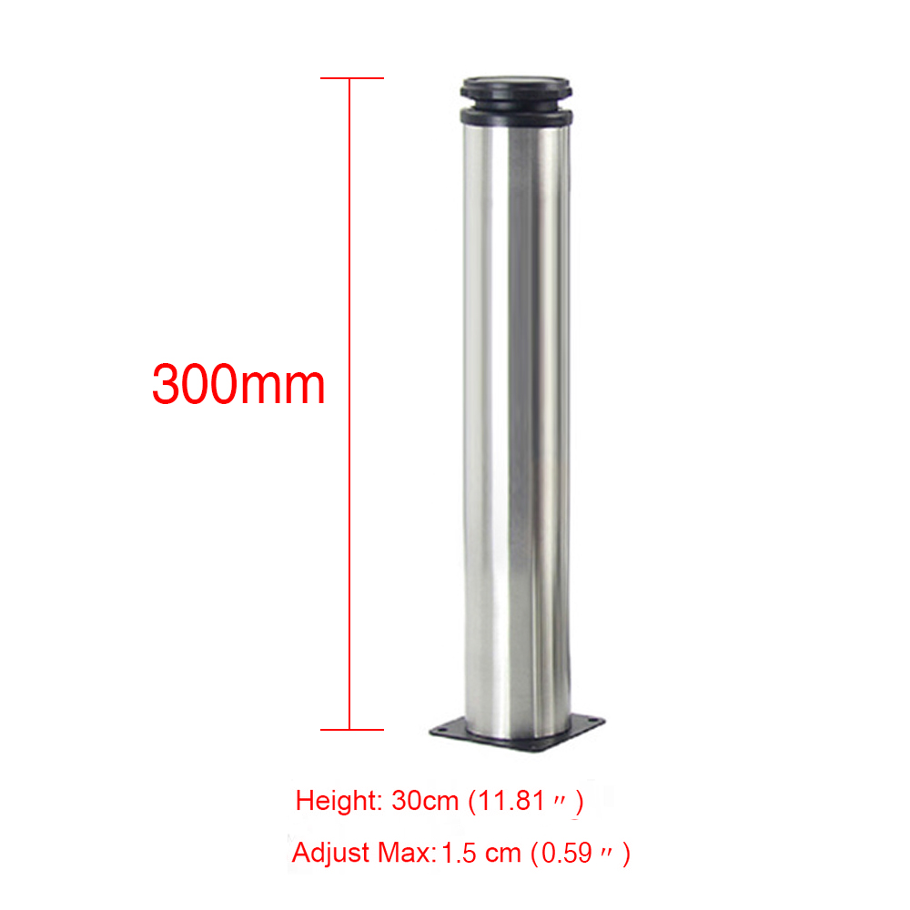 30CM Adjustable Stainless Steel Furniture Legs Cabinet Table Sofa Bed Feet Furniture Legs Feet 4pcs 150mm height furniture legs adjustable 10 15mm cabinet feet silver tone stainless steel leveling feet for table bed sofa