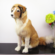 Simulation dog polyethylene&furs dog model funny gift about 53cmx20cmx50cm
