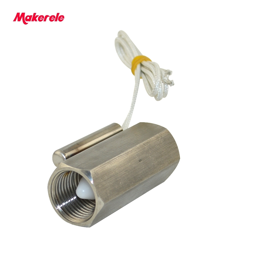 MK-PFS8 Stainless steel SUS304 Outstanding Piston flow sensor mini mechanical magnetic control liquid piston water flow switch johnson f61kb 11c stainless steel target type flow switch flow switch flow controller 1 inch outside the wire
