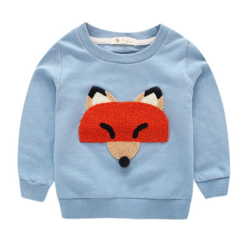 HTB1Czb9eukJL1JjSZFmq6Aw0XXaB - Baby Boy T Shirt Long Sleeve Cartoon Fox Boy  T shirts 2017 Autumn Kids 7d957e664e5