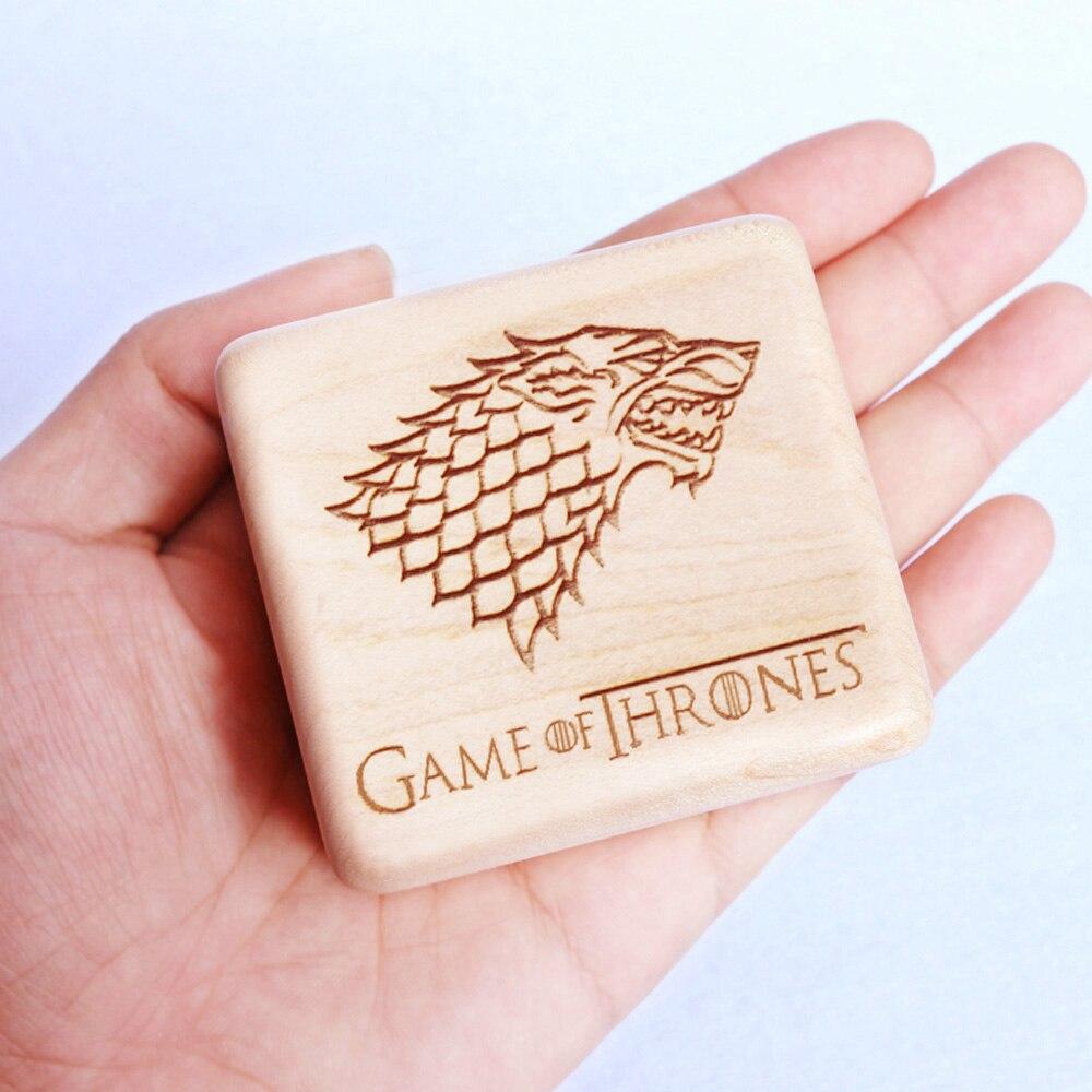 Sinzyo Handmade Wooden Game of Throne Music Box Birthday Gift For Christmas Birthday Valentine s day