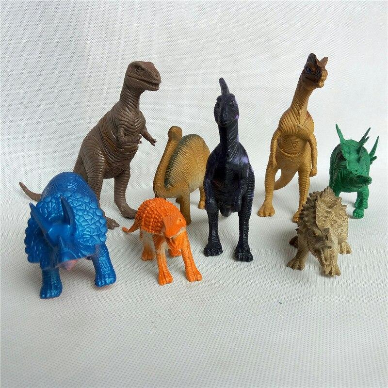 Plastic Dinosaur Model-Model Christmas-Gift of Toy Hot-Simulation Mix Static Large 8pcs/Set