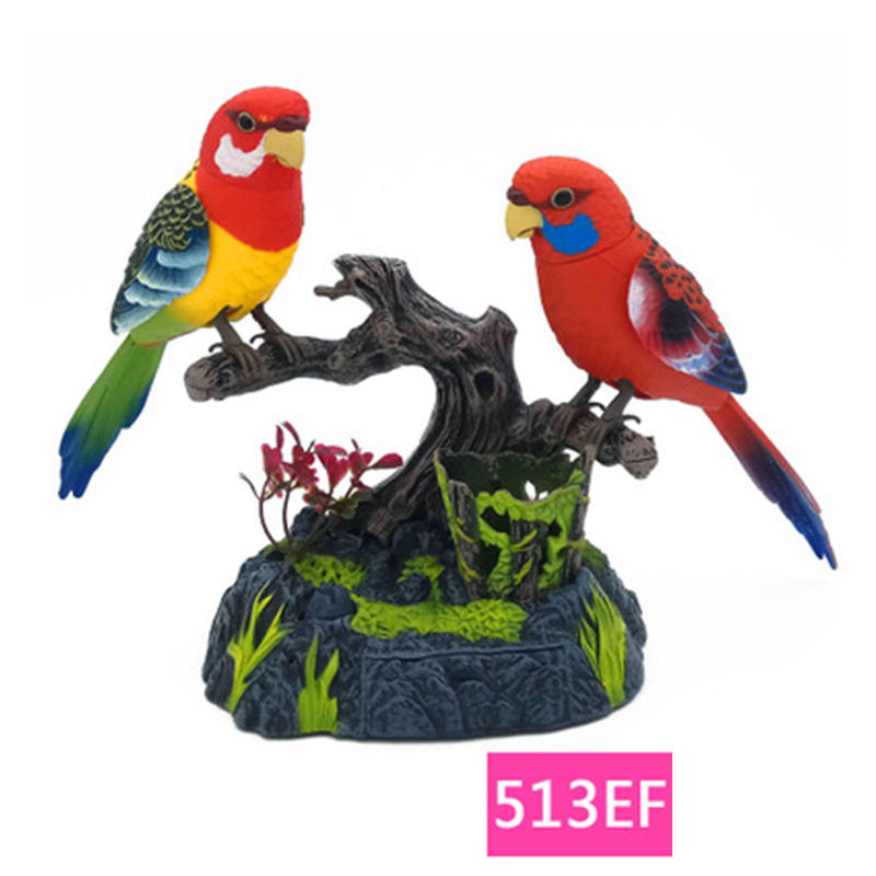 Family Pet Bird Toys Talking Birds Pet Birds Pet Bird Cage Electric Voice Control Children's Toys Gift