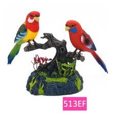 Family pet bird toys talking birds pet birds pet bird cage electric voice control children's toys gift