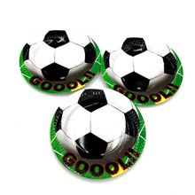 10pcs / lot football party plates football dishes kids birthday party baby shower football theme paper  sc 1 st  AliExpress.com & Buy football paper plates and get free shipping on AliExpress.com